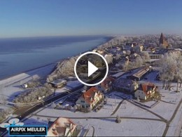 Airpix Meuler Video: Ostsee Rerik Winterlandschaft